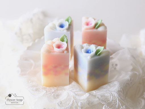 バラの石けん スイーツみたいな手作り石けん 東京で人気の手作り石けん ギフトソープ