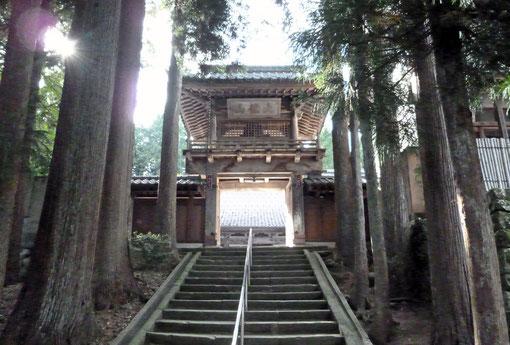 洞雲寺山門(撮影・東川寺)