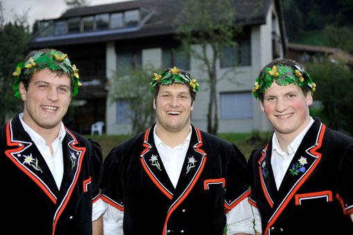 Die drei haben gut lachen: Matthias Aeschbacher, Marcel Brunner und Patrick Schenk
