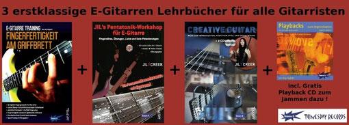 Lehrbuch-Bundles für E-Gitarristen (inkl. Gratis-CD!) im Tunesday Online Shop !