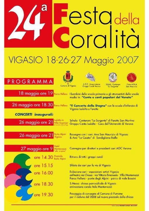 Manifesto dello spettacolo dedicato ai Canti Popolari del Veneto