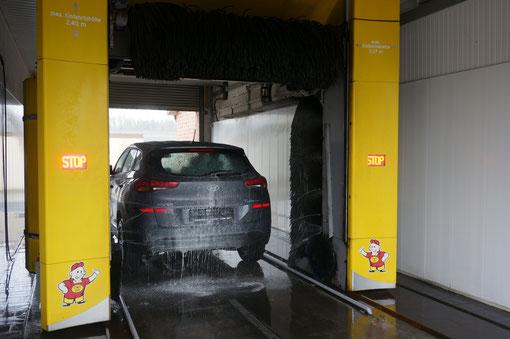 Waschanlage, Waschplatz, Hochdruckreiniger, Autowäsche, Fahrzeugpflege