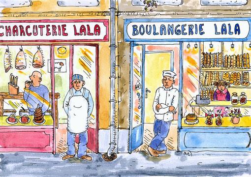Charcuterie et boulangerie Lala.