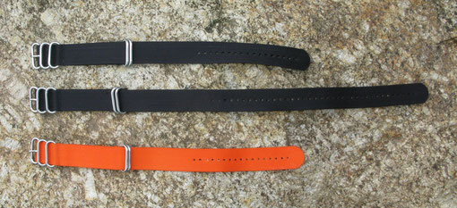three 24mm Zulu straps