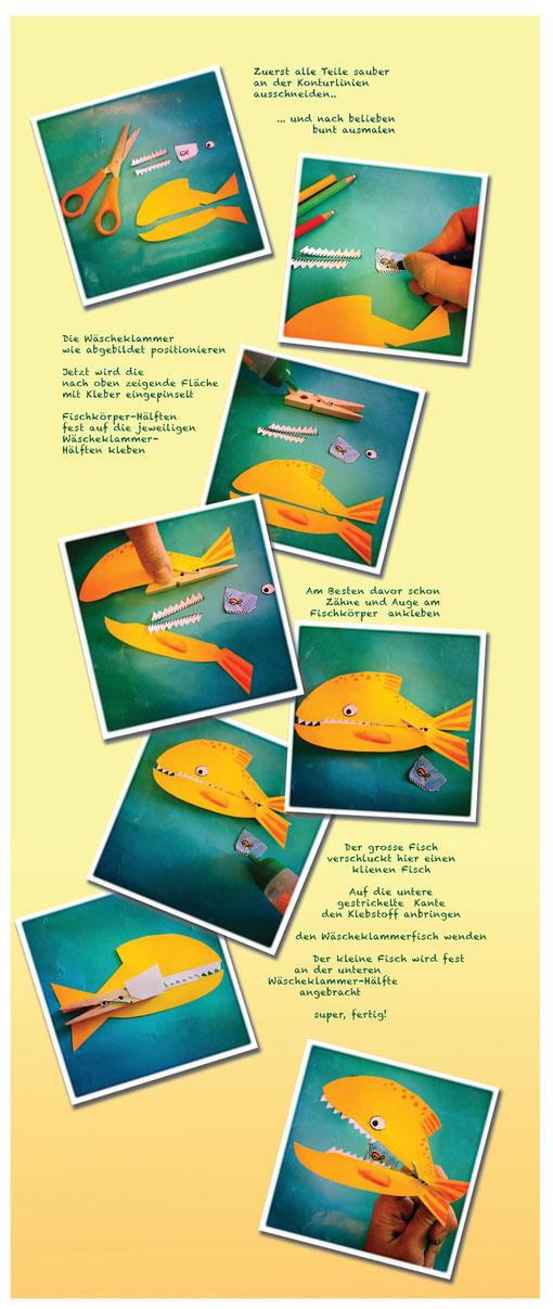 DIY Wäscheklammerfische