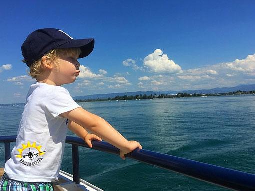 Auf dem Bodensee unterwegs - auch für Kinder ein Spaß.