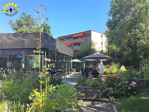Die Terrasse des Restaurants Schnabelweid.