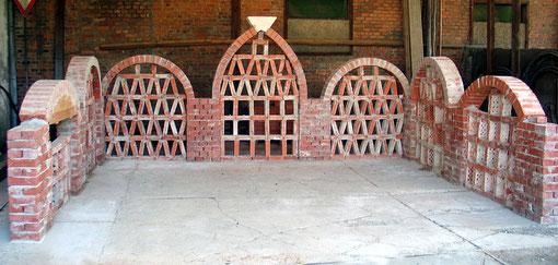 Ziermauerwerk im Bauhof