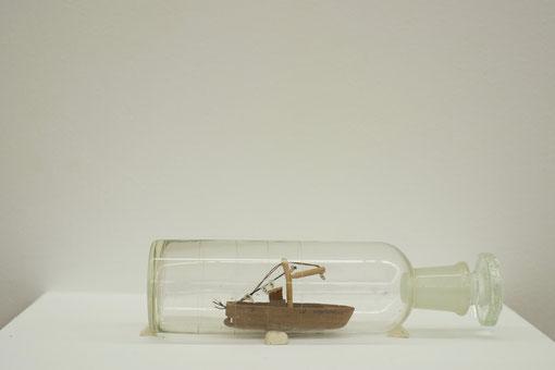 Pass-Time, installation, marco de sanctis, dauwensbeernaert, exposition, bateaux en bouteille,