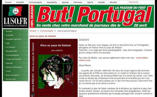 Alice au pays de Salazar - Article Luso Jornal aout 2010