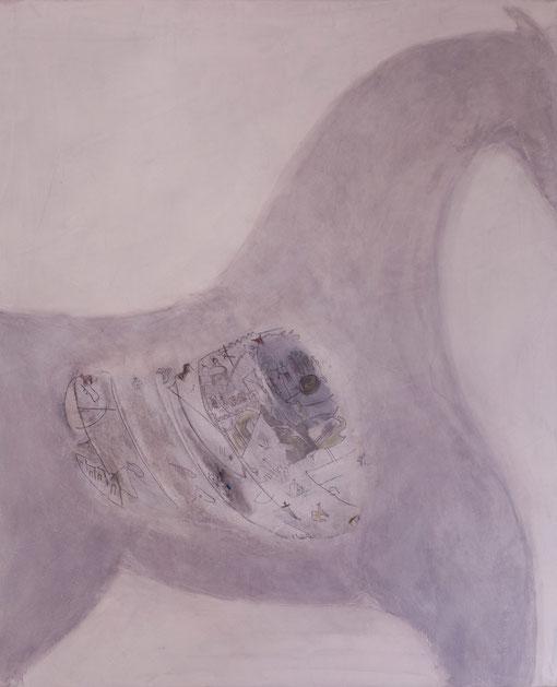 2011 I Das trojanicshe Pferd III I 100/120 I Acryl, Graphit auf Leinwand