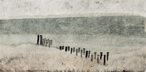 2011 I Strandpolder Domburg I 20/40 I Acryl auf Papier