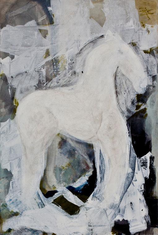 2011 I Das trojanische Pferd II I 60/80 I Acryl auf Leinwand