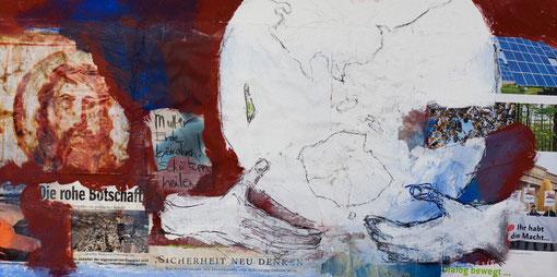 2011 I Das Trojanische Pferd I I 25/50 I Papier, Acryl, Graphit auf Leinwand