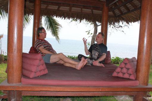 Coaching in einem Gazebo auf Bali
