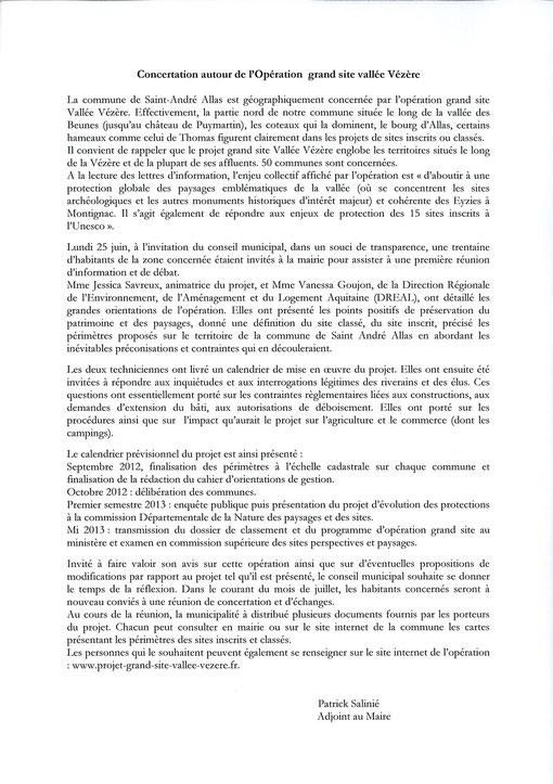Compte Rendu Réunion du lundi 25 juin 2012