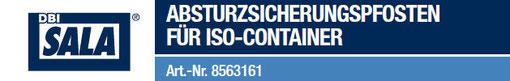 DBI SALA Absturzsicherungspfosten für Container