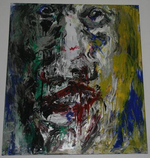 Zerflossen, Acryl auf Leinwand, 2017, 135x150