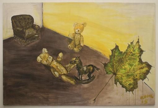 Kindheitserinnerungen, Öl auf Leinwand, 150x185