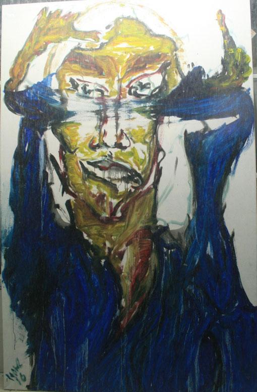 Verdreht, Öl auf Leinwand, 2016, 100x150
