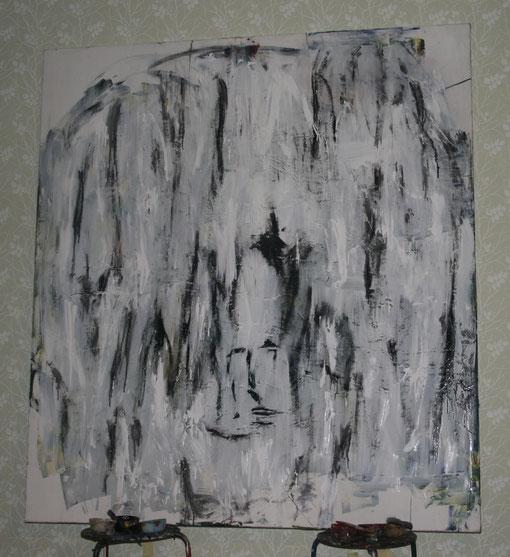 Einsamkeit, Öl auf Leinwand, 150x165