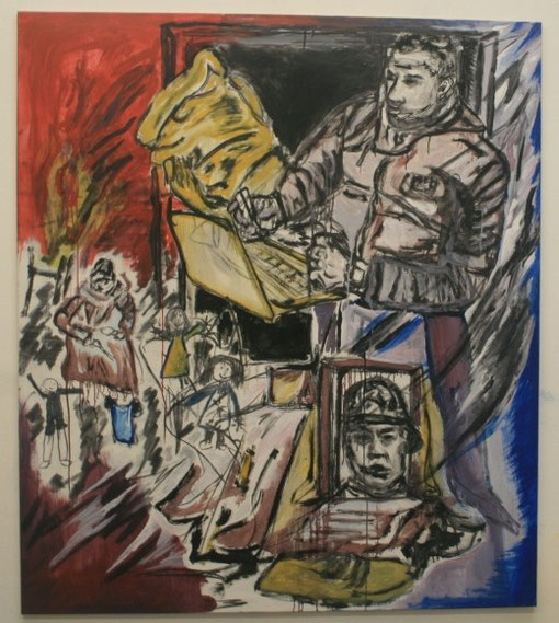Sog, Acryl auf Leinwand, 135x150 - gnadenlos übermalt