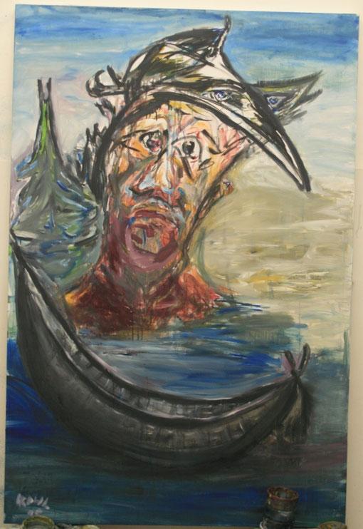 Moise sortant des eaux, Acryl auf Leinwand, 80x120 - verkauft