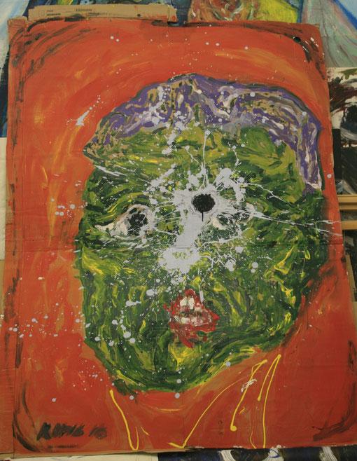 Erstaunen Acryl auf Karton, 140x200