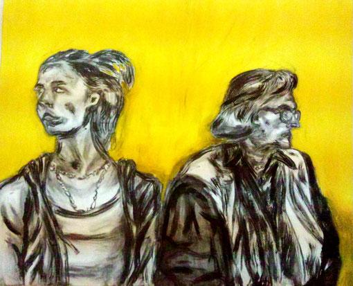 Generationenvertrag, Acryl auf Leinwand, 2014, 135x150 - verkauft