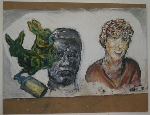 Gehirnwäsche, Öl auf Leinwand, 120x180 - verkauft