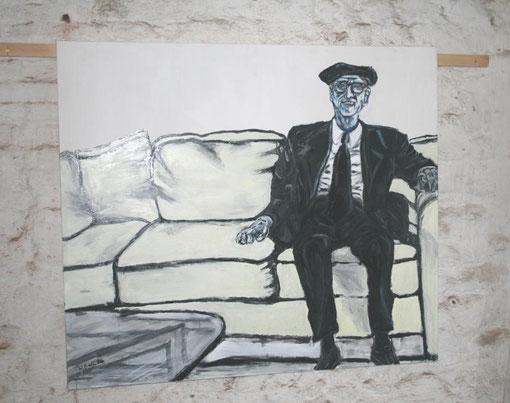 Mazeltov Herr Noveck, Acryl auf Leinwand, 135x150 - verkauft