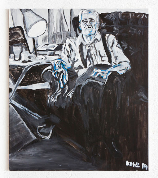 Die langen Jahre des Herrn Bergen, Acryl auf Leinwand, 135x150