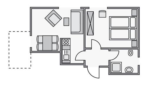 Grundriss Ferienwohnung C4 im Haus Wittholm in Cuxhaven Duhnen