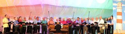 """Männerchor beim Galakonzert """"Sommerbrise & Meeresrauschen"""" am 26.07.2014 in Büchenau"""
