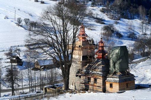 Remont cerkiewki w Dubnem. Fot. Łukasz Płoskoń