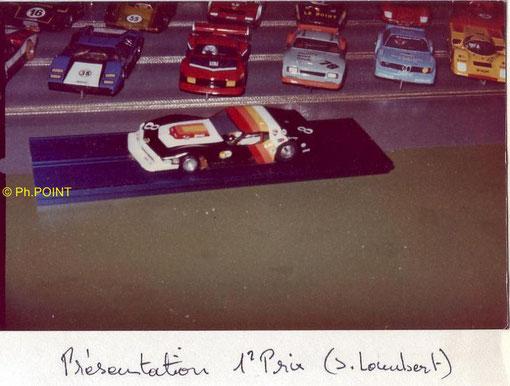 La Chevrolet Corvette gagnante en Production et au concours d'élégance avec Serge Lambert.