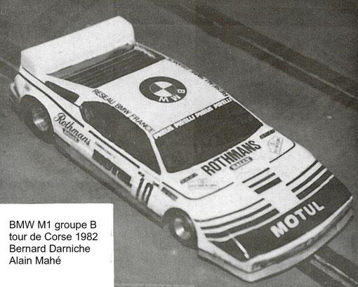 BMW M1 tour de Corse, slot car de Jean-Marie Donzel