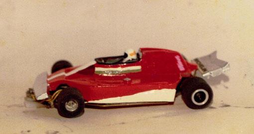 Slot car Uruguayenne Ferrari 312 T Formule 1 de Jody Sheckter au 1/24