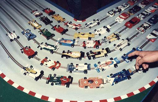 Quelques Formule 1 du plateau du GP de L'isle sur Sorgue 1985