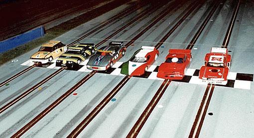 4 ième série production. Renault 5 Turbo René Guélin, Ford Escort Jean-Claude Ehinger, Porsche 935 Jean-Noël Pascal, Ferrari BB512 Gérard Caupène, Mazda RX3 Didier Moret, Ford Mustang Denis Homatter;