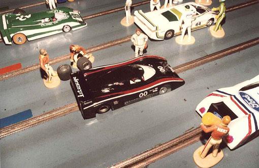 La lola Interscope n° 00 du Slot Racing Club de Thoiry aux 24 heures de Rouen 1986