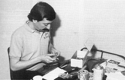 Jan Limpach avec un équipement sommaire