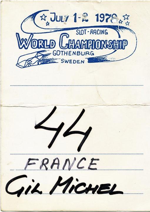 World championship Göteborg 1978