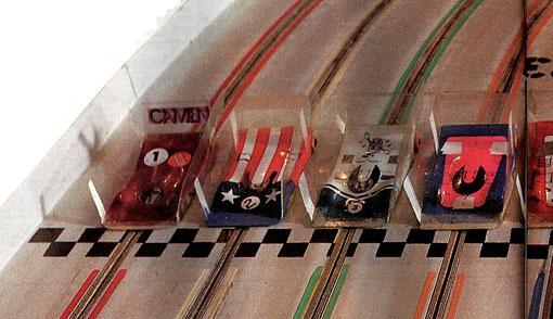 Slot car de la finale group 7 de Toulouse 1987
