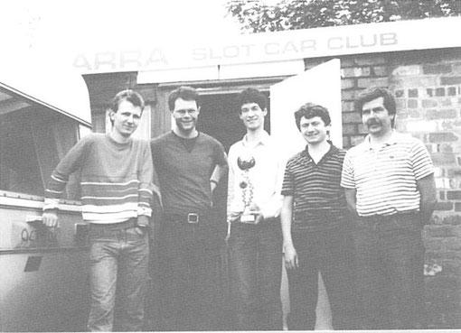 Paul Harwood - Alan Lucas - Ian Fisher - Paul Martin - Chris James ( photo Alan Lucas )