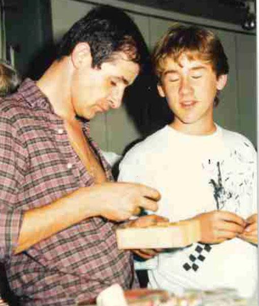 Bernard Delobel et Sébastien Guillon au Grand prix de Bordeaux 1987