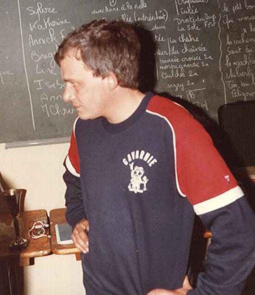 Thierry Lambin un des pilote du Slot Racing Club Le Mans en 1984.