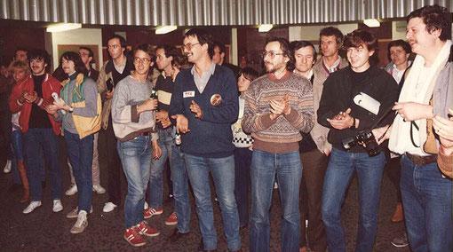 Remise des trophées du la course du championnat de France 1984 à Bordeaux