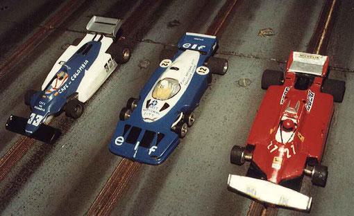 Formule 1 série 1 : Theodore MN183 Daniel Chanquet, Tyrrell P34 Didier Moret, Ferrari Didier Ritter