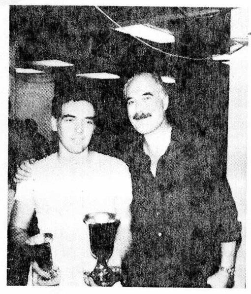 Tim Ryan et John Farlie à Bordeaux en 1982